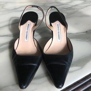 Manolo Blahnik Black shoes - lovely sexy worn